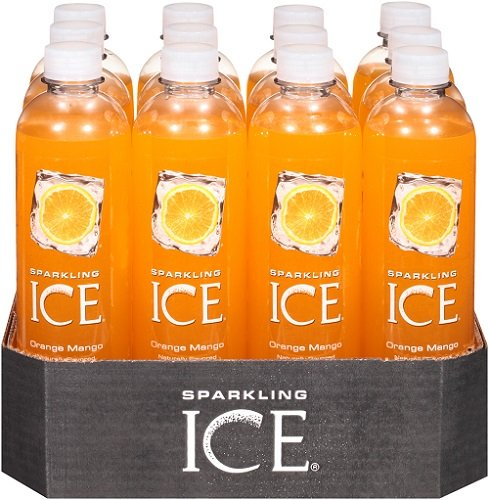 Sparkling Ice Orange Mango, 17 Ounce Bottles (Pack of 12)