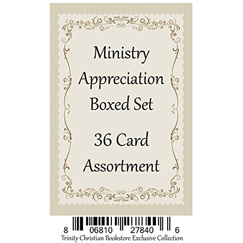 - Ministry Appreciation ~ 36 Card Set ~ Religious Greeting Card Assortment w/ Scripture