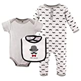 Hudson Baby Baby Multi Piece Clothing Set, Mustaches 3 Piece, 0-3 Months