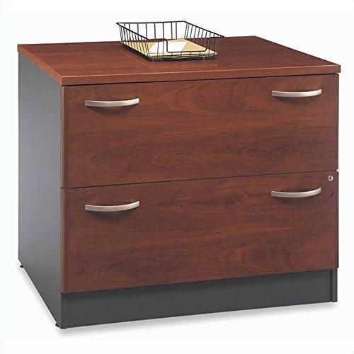 Bush Furniture Hansen Cherry Corsa Series Corner Desk with Lateral File Cabinet