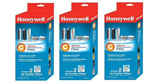 Honeywell HEPAClean Air Purifier Replacement Filter , HRF-C2/Filter (3 pack - 6 Filters Total) (Air Tabletop Honeywell Purifier)