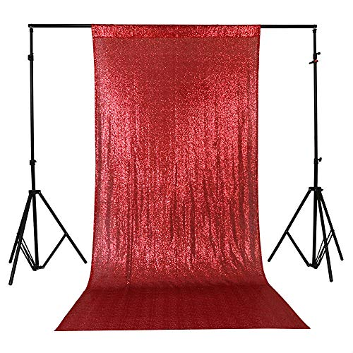 ae4e96b5fa2e6 TRLYC 4Ft7Ft Photo Booth Backdrop Red Sparkly Wedding and Party ...