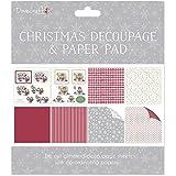 Dovecraft-Set per Decoupage e di Natale FSC, ricci-Blocco di carta, di carta, multicolore