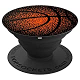 Basketball Pixel Art Black Popsocket for Boys or Girls - PopSockets Grip and Stand for Phones and Tablets