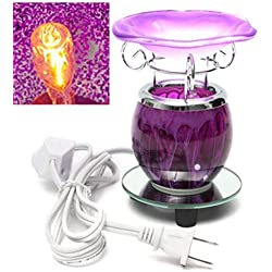 Purple Electric Scented Oil Warmer Lamp Wax With Bulb Burner Fragrance Lamp Diffuser by Advanced