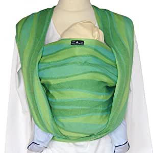 DIDYMOS Woven Wrap Baby Carrier Waves Lime (Organic Cotton), Size 6