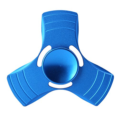 Tri-Fidget Hand Finger Spinner Metal Toy Time Killer for ADD, ADHD, Anxiety, and Autism Adult Children