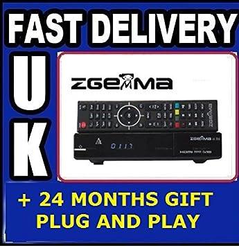 Zgemma H2s H 2s Dual Core Twin Tuner Satellite Receiver, with Full 7day EPG  like OPENBOX V8S V9S