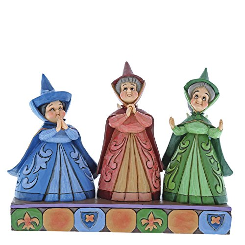 Enesco Disney Traditions by Jim Shore Three Fairies Stone Resin Figurine, Multicolor