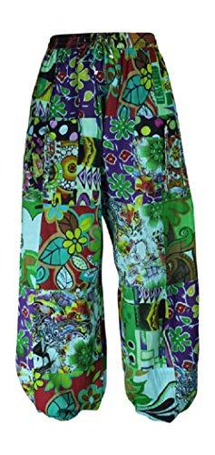 Vert De Bigarré Boho Mesdames Taille Femme Unique Harem Pantalon Dames Hippie Yoga PCxfwAqx