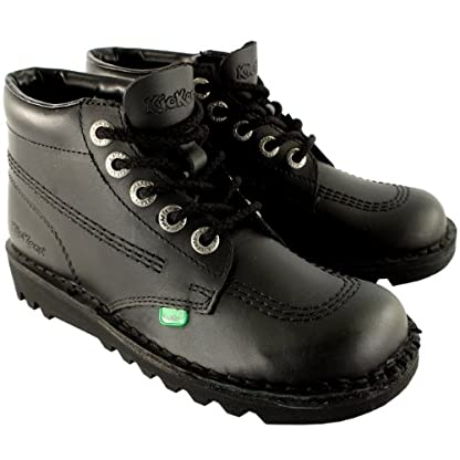 Mens Kickers Kick Hi Leather Classic Lace Up Office Work Boots Shoes 2