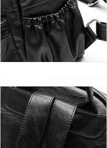 Black à ZHXUANXUAN Sac à Sac Sac Bandoulière à Mode Dos Dos Coréen PnUgFqRnw