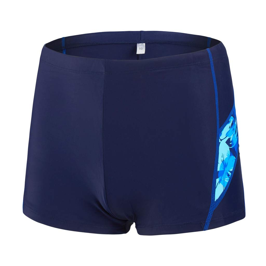 iLXHD Men Shorts Summer Quick Dry Swimwear Beach Surfing Running Swimming Short Pants Boxer Briefs Blue