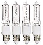 75 watt ceiling fan bulbs - E11 Bulb, 4 Pack 120V 75W T4 E11 Base Halogen Light Bulbs, Mini Candelabra Flood Light,Long Lasting Life Dimmable