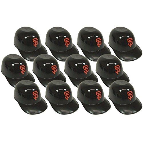 Logo Snack - MLB Mini Batting Helmet Ice Cream Sundae/ Snack Bowls, Giants - 12 Pack