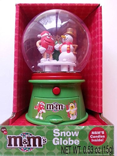 M&M's Christmas Winter Snow Globe with Chocolate Candies