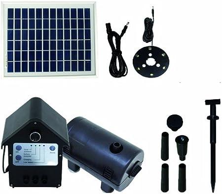 T.I.P. Solar Teichpumpe SPS 80012, LED Beleuchtung, 8 W