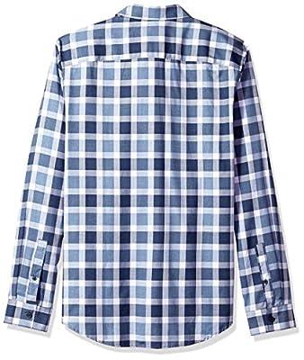 Calvin Klein Men's Long-Sleeve Button Down Plaid Shirt