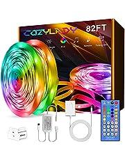 Cozylady LED Lights Strip, Ultra-Long Music LED Strip Lights for Bedroom, Room Decor, Bedroom Decor, Children's Room