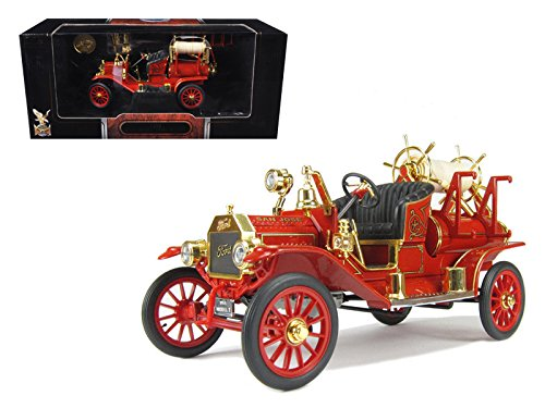 1914 Ford Model T Fire Truck, Red - Road Signature 20038 - 1/18 Scale Collectible Diecast Model