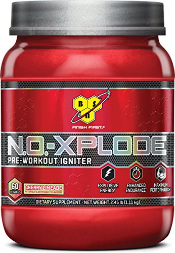 BSN N.O.-XPLODE Pre-Workout Supplement with Creatine, Beta-Alanine, and Energy, Flavor: Cherry Limeade, 60 - N C4