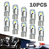 #9: T10 LED Light Bulb,W5W Bulb,194 LED Bulb,3030 Chip 2-SMD Replacement for Car Interior Dome Map Reading Door License Plate Turn Signal Trunk Clearance Compact Wedge Parking Side Dashboard Light(10PCS)