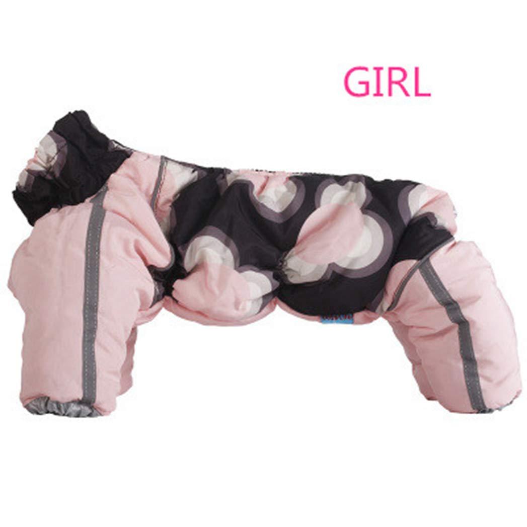 PINK GIRL 10 PINK GIRL 10 SENERY Winter Pet Dog Clothing,Snowproof Zipper Clothes Warm Pets Coat Costume Parkas Goods