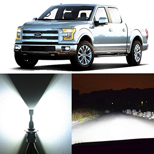 Alla Lighting 2pcs Super Bright H13 White LED Bulbs Dual High Low Beam Headlight Conversion Kits for 2004~2014 Ford F150 F250 F350 F450 F550/ 2005~17 F-250 / F-350/ F-450 / - Bulb Ford