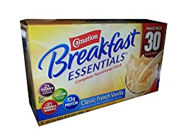 Carnation Breakfast Essentials Complete Nutritional Drink Classic French Vanilla - 30 Servings 2.36 LB