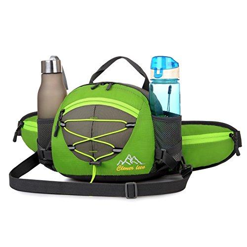 Bicicleta mochila Casual bolsas de bolsa de ciclismo impermeable ultraligero deporte al aire libre Camping mochila Nylon mochila bicicleta senderismo escalada para correr bolsillos con gran capacidad, verde