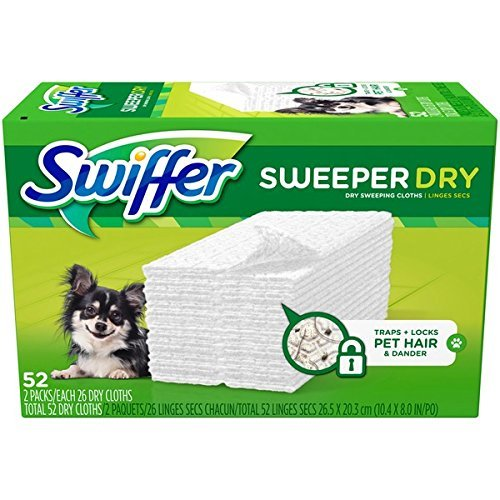 Swiffer Sweeper Dry Dry Sweeping Pad Pet Refills 52 ct - Pickup Hair Pet Refill
