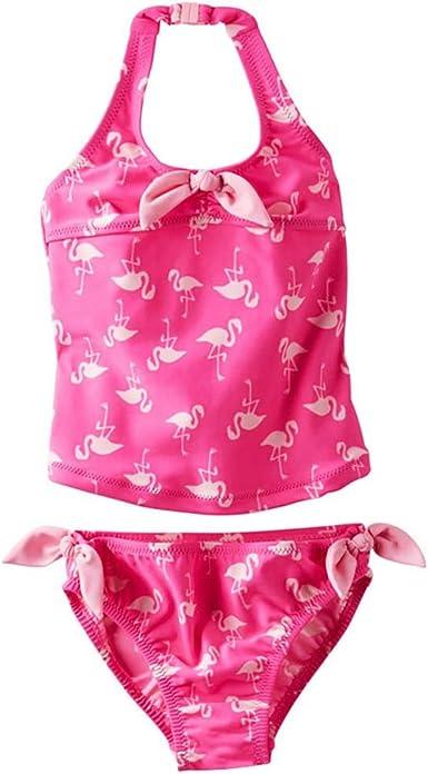 Achiyi Baby Girls Two Piece Tankini Swimsuits Hawaiian Ruffle Polka Dot Swimwear Bathing Suit Lovely Swimming Outfit UPF50+