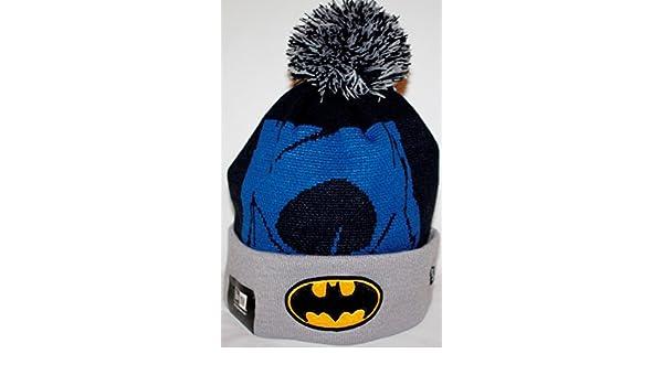 f2f040b43cbac Amazon.com   New Era Batman Woven Biggie 2 Cuffed Knit Hat   Sports    Outdoors