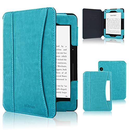 ACdream Case Fits Kindle Voyage 2014 Release, Folio Smart Cover Leather Case with Auto Wake Sleep Feature for Amazon Kindle Voyage, Sky Blue