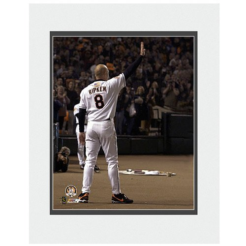 Ripkens Last Game - Photo File Baltimore Orioles Cal Ripken, Jr. Last Game Matted Photo