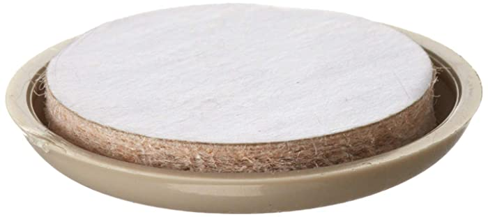 Shepherd Hardware 3943 1-1/2-Inch Adhesive, Round, Slide Glide Furniture Sliders, 4-Pack