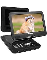 """NAVISKAUTO 10,1"""" HD Tragbarer DVD Player 5 Stunden Akku Auto Ferseher Kopfstütze Monitor Media Video DVD-Player Kopfstützenhalterung SD/USB AV IN/Out PD1001"""
