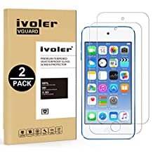 [2 Pack] iVoler [Tempered Glass] Screen Protector for iPod Touch 6G (6th Generation) / 5G (5th Generation), [0.2mm Ultra Thin 9H Hardness 2.5D Round Edge] with Lifetime Replacement Warranty