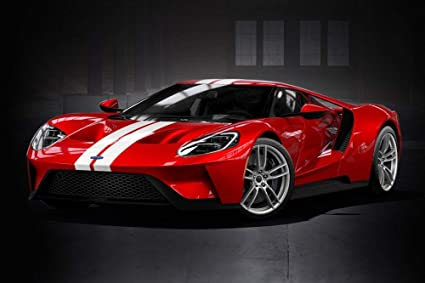Amazon Com Gt Spirit  Ford Gt Heritage Edition Red Usb   Scale Resin Model Toy Car Toys Games