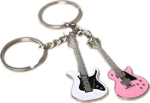 1 Par Xuxuou Mujer Llaveros Decoración Guitarra Forma Llavero ...