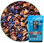 Tiesta Tea | Blueberry Wild Child, Loose Leaf Blueberry Hibiscus Fruit Tea | All Natural, Caffeine Free, Hot or Iced, Antiox