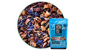 Tiesta Tea | Blueberry Wild Child, Loose Leaf Blueberry Hibiscus Fruit Tea | All Natural, Caffeine Free, Hot or Iced, Antioxidant Boost | 1.8oz Pouch - 30 Cups | Blueberry Hibiscus Tea