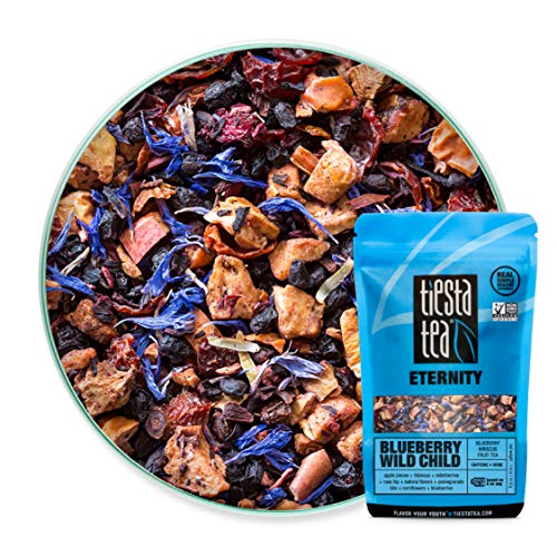 Tiesta Tea Blueberry Wild Child, Blueberry Hibiscus Fruit Tea, 30 Servings, 1.8 Ounce Pouch, Caffeine Free, Loose Leaf Fruit Tea Eternity Blend, Non-GMO