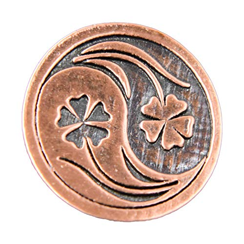 (Creative Pewter Designs Yin Yang Flowers Copper Plated Lapel Pin, Brooch, Jewelry, GC053)