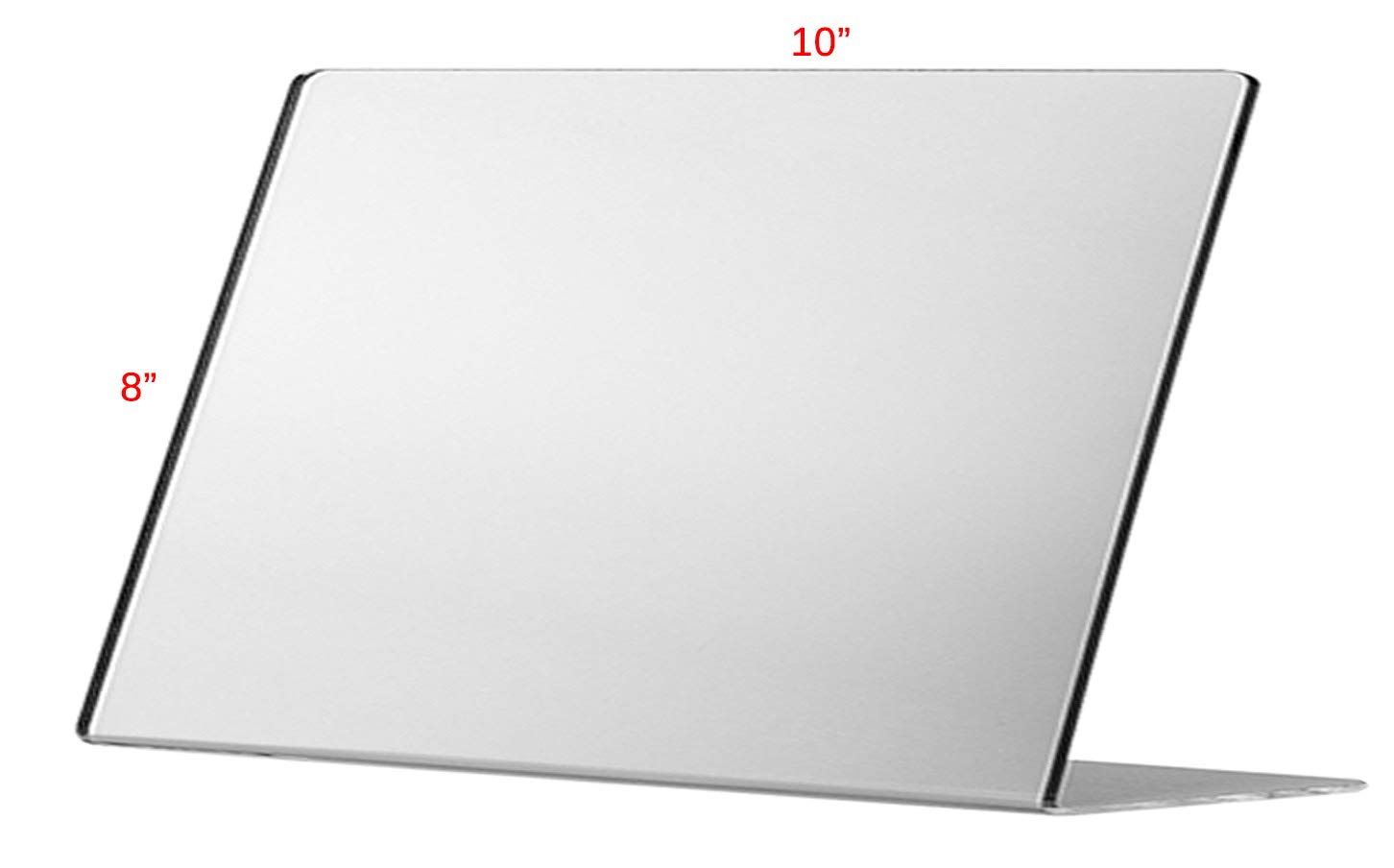 Marketing Holders Acrylic Mirror Slant Back Counter Top Speech Therapy Jewelry Makeup Mirror (24, 10''w x 8''h)