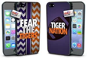 """Lifebox - Cool """"Fear the Tigers"""" and """"Tiger Nation"""" Chevron Sports Hard Case COMBO TWO PACK for iPhone 5/5s"""