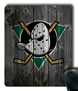 Anaheim Ducks on Wood Rectangle Mouse Pad by eeMuse