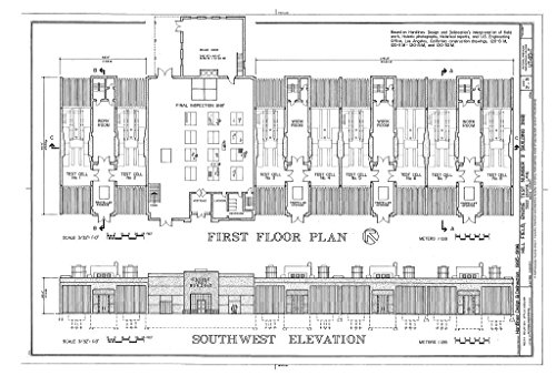 Historic Pictoric Structural Drawing HAER Utah,6-Lay.V,2T- (Sheet 2 of 3) - Hill Field, Engine Test No. 2, 5822 Engine Lane, Layton, Davis County, UT 66in x ()