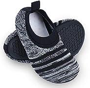 Dream Bridge Kids Toddler Slipper Socks with Rubber Sole Non-Slip Knit Lightweight House Slippers for Boys Gir