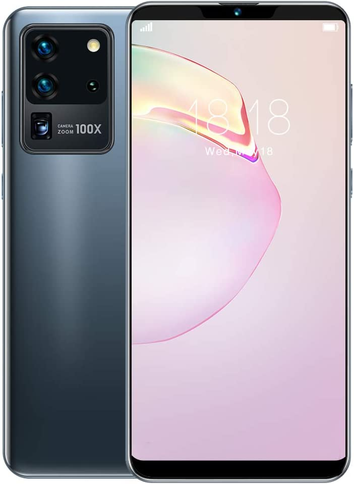 6.1-inch Full Screen Smartphone, Face ID Unlocked Cell Phone, 5-Point Touching Screen, Dual Cards Dual Standby, MTK6580P Quad-core, Support for Android 10.0 with 128G Memory Card